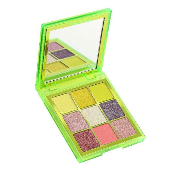 سایه چشم هدی بیوتی پالت 9 رنگ مدل سبز نئونی