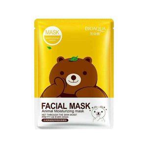ماسک ورقه ای صورت میشا خرس بیو آکوا (عصاره چای سبز)