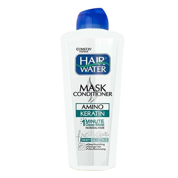 ماسک مو هیر واتر کامان حاوی کراتین مناسب موهای معمولی و کمی چرب 400 میل