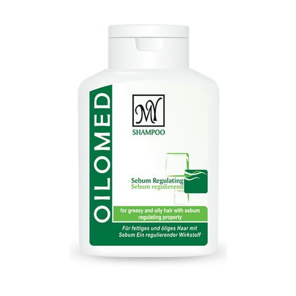 شامپو تنظیم کننده چربی موی مای مدل اویلومد (Oilomed) مناسب موهای چرب حجم 200 میل