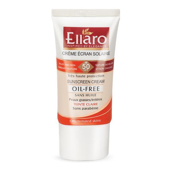 کرم ضد آفتاب الارو +SPF 50 سری فاقد چربی بی رنگ