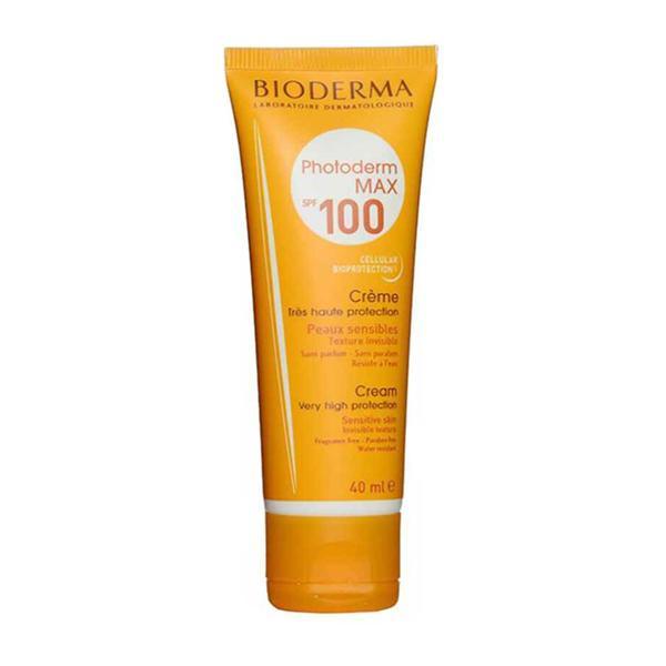 کرم ضد آفتاب بی رنگ بایودرما مدل Photoderm MAX Cream SPF 100 حجم 40 میل